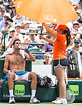 April 1 2016: Novak Djokovic (SRB) wins first set in tiebreaker at the Miami Open being played at Crandon Park Tennis Center in Miami, Key Biscayne, Florida. ©Karla Kinne/Tennisclix/Cal Sports Media