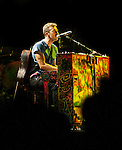 Coldplay's Chris Martin performing at The Boston Garden 2012.