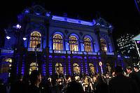 SAO PAULO, SP, 13 DE MAIO 2013 - VISITA PRESIDENTE DA ALEMANHA AO BRASIL - Vista do Teatro Municipal durante visita do Presidente da Alemanha a cidade de Sao Paulo na noite desta segunda-feira. FOTO: VANESSA CARVALHO - BRAZIL PHOTO PRESS