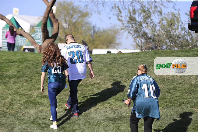 Philadelphia Eagles fans during Superbowl Sunday's Final Round of the Waste Management Phoenix Open 2018 held on the TPC Scottsdale Stadium Course, Scottsdale, Arizona, USA. 4th February 2018.<br /> Picture: Eoin Clarke | Golffile<br /> <br /> <br /> All photos usage must carry mandatory copyright credit (&copy; Golffile | Eoin Clarke)