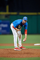 Clearwater Threshers relief pitcher Keylan Killgore (37) during a Florida State League game against the Lakeland Flying Tigers on May 14, 2019 at Spectrum Field in Clearwater, Florida.  Clearwater defeated Lakeland 6-3.  (Mike Janes/Four Seam Images)