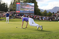 during Sunday's Final Round 4 of the 2018 Omega European Masters, held at the Golf Club Crans-Sur-Sierre, Crans Montana, Switzerland. 9th September 2018.<br /> Picture: Eoin Clarke | Golffile<br /> <br /> <br /> All photos usage must carry mandatory copyright credit (&copy; Golffile | Eoin Clarke)
