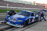 Mar. 1, 2009; Las Vegas, NV, USA; NASCAR Sprint Cup Series driver Kurt Busch pits during the Shelby 427 at Las Vegas Motor Speedway. Mandatory Credit: Mark J. Rebilas-