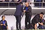 Vietnam Head Coach Park Hangseo (R) shakes hands with Japan Head Coach Hajime Moriyasu after the AFC Asian Cup UAE 2019 Quarter Finals match between Vietnam (VIE) and Japan (JPN) at Al Maktoum Stadium on 24 January 2018 in Dubai, United Arab Emirates. Photo by Marcio Rodrigo Machado / Power Sport Images