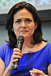 """July 2, 2013, Tokyo, Japan - Chief Operating Officer of Facebook, Sheryl Sandberg attends a press conference for """"Lean in"""" Japanese edition in Tokyo, Japan on July 2, 2013. (Photo by AFLO)"""
