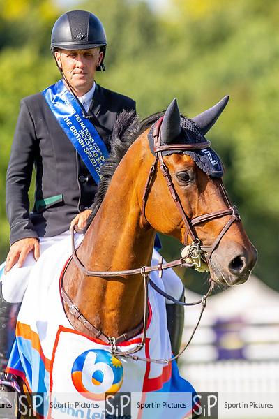 Winner. Shane Breen riding Can Ya Makan. IRL.The Bunn Leisure British Speed Classic. Showjumping.Longines FEI Jumping Nations Cup of Great Britain at the BHS Royal International Horse Show. All England Jumping Course. Hickstead. Great Britain. 28/07/2018. ~ MANDATORY Credit Elli Birch/Sportinpictures - NO UNAUTHORISED USE - 07837 394578