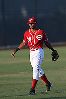 Leandro Santana (29) of the AZL Reds during a game against the AZL Brewers at Cincinnati Reds Spring Training Complex on July 5, 2015 in Goodyear, Arizona. Reds defeated the Brewers, 9-4. (Larry Goren/Four Seam Images)