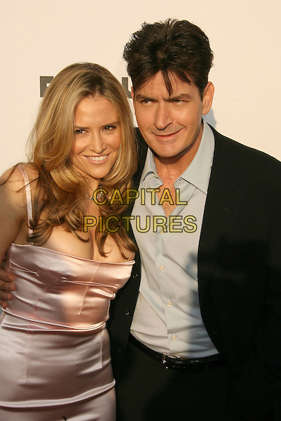BROOKE WOLOFSKY & CHARLIE SHEEN.Sixth Annual Chrysalis Butterfly Ball held at the Home of Susan Harris and Hayward Kaiser, Mandeville Canyon, California, USA, 02 June 2007..half length couple.CAP/ADM/RE.©Russ Elliot/AdMedia/Capital Pictures. *** Local Caption *** ..