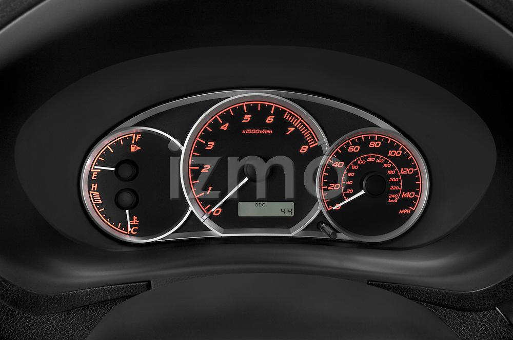 Instrument panel close up detail view of a 2009 Subaru Impreza Wagon WRX