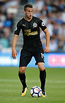 Javi Manquillo of Newcastle United during the premier league match at the John Smith's Stadium, Huddersfield. Picture date 20th August 2017. Picture credit should read: Simon Bellis/Sportimage