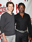 Peter Starks & Billy Porter attending the Meet & Greet the Cast & Creative Team of the New Broadway Musical 'Kinky Boots' at the New 42nd Street Studios in New York City on September 14, 2012.