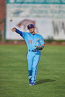 Joe Vranesh (45) of the Ogden Raptors before the game against the Orem Owlz at Lindquist Field on June 20, 2019 in Ogden, Utah. The Owlz defeated the Raptors 11-8. (Stephen Smith/Four Seam Images)