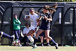 23 October 2016: Wake Forest's Peyton Perea (14) and Notre Dame's Taylor Klawunder (29). The Wake Forest University Demon Deacons hosted the University of Notre Dame Fighting Irish at Spry Stadium in Winston-Salem, North Carolina in a 2016 NCAA Division I Women's Soccer match. Notre Dame won the game 1-0.