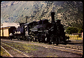 D&amp;RGW #478 K-28 with baggage car in Durango.<br /> D&amp;RGW  Durango, CO