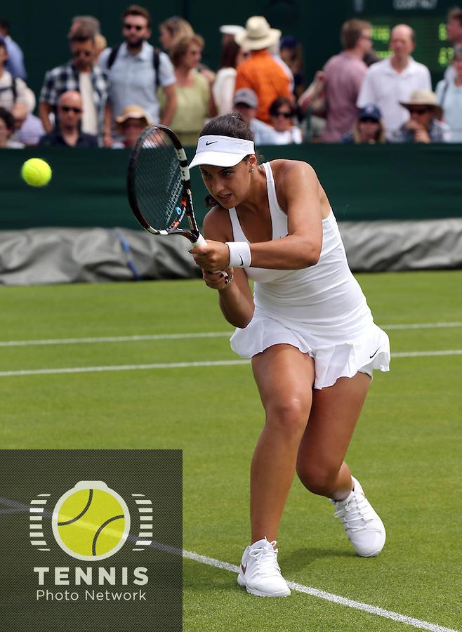 ANA KONJUH (CRO)<br /> <br /> The Championships Wimbledon 2014 - The All England Lawn Tennis Club -  London - UK -  ATP - ITF - WTA-2014  - Grand Slam - Great Britain -  23rd June 2014. <br /> <br /> &copy; J.Hasenkopf / Tennis Photo Network