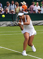 ANA KONJUH (CRO)<br /> <br /> The Championships Wimbledon 2014 - The All England Lawn Tennis Club -  London - UK -  ATP - ITF - WTA-2014  - Grand Slam - Great Britain -  23rd June 2014. <br /> <br /> &copy; J.Hasenkopf / Tennis Photo Network
