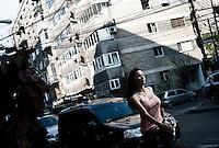 ROMANIA / Bucharest / 25 September 2009 / A young woman on the street.  © Davin Ellicson / Anzenberger