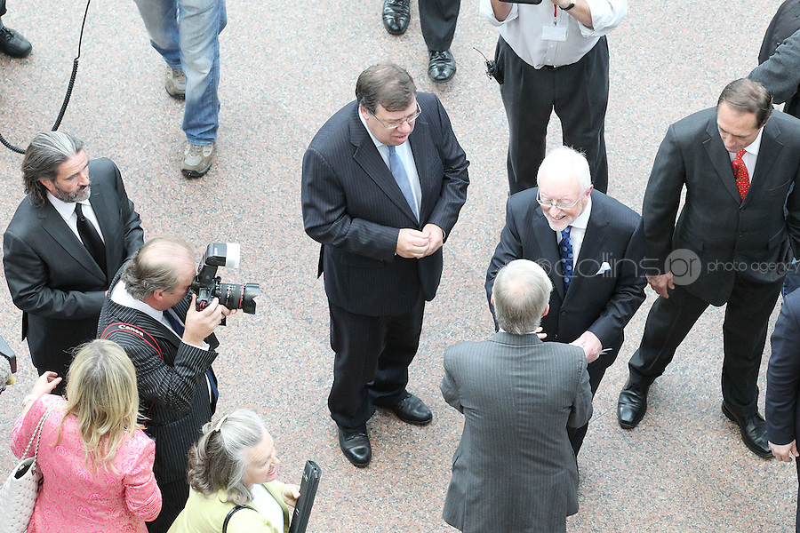 7/9/2010. Convention Centre opens. An Taoiseach Brian Cowen is pictured arriving at the official opening of the Dublin Convention Centre. Picture James Horan/Collins