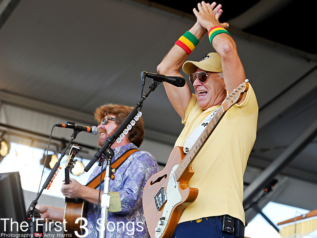 Jimmy Buffett & The Coral Reefer Band perform during the New Orleans Jazz & Heritage Festival in New Orleans, LA on May 7, 2011.