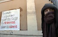 """Roma,6 Dicembre 2012.Sciopero con corteo degli studenti medi da Piazzale Ostiense contro l'austerità e i tagli alla scuola pubblica-.La frase di Bertold Brecht: """"quando l'ingiustizia diventa legge la resistenza diventa dovere"""""""