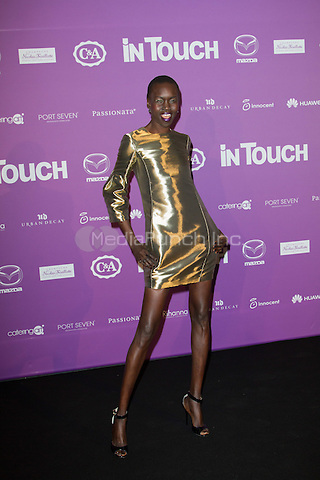 Alek Wek attending the &quot;InTouch Awards&quot; and &quot;Idols &amp; Icons&quot; event held at Port Seven, Duesseldorf, Germany, 23.10.2014. <br /> Photo by Christopher Tamcke/insight media /MediaPunch ***FOR USA ONLY***