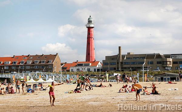 Nederland Scheveningen  2017 .  De vuurtoren van Scheveningen.   Foto Berlinda van Dam / Hollandse Hoogte