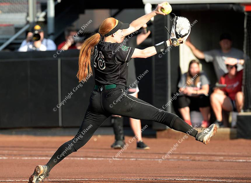 Oshkosh North's Sydney Supple winds up in the bottom of the second inning. Pitchers for both teams pitch all nine innings.