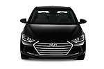 Car photography straight front view of a 2018 Hyundai Elantra ECO 4 Door Sedan