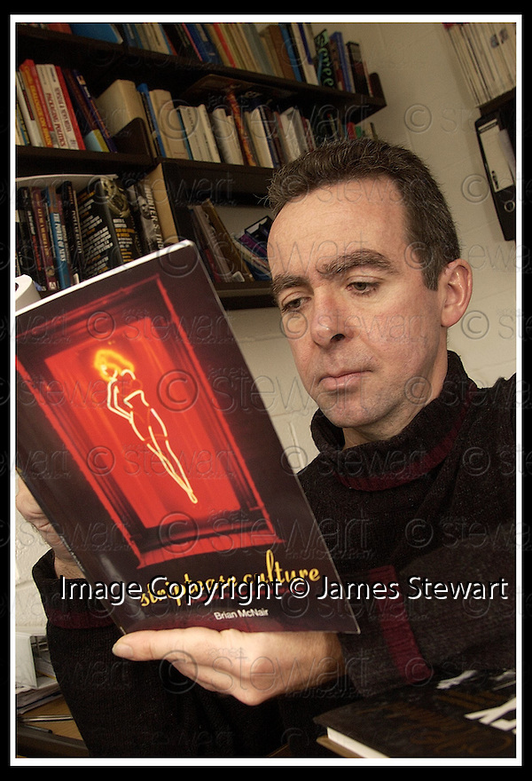 "15/4/02                 Copyright Pic : James Stewart .Ref :     .File Name : stewart-brian mcnair 07.BRIAN MCNAIR, LECTURER IN FILM AND MEDIA STUDIES AT STIRLING UNIVERSITY, WITH HIS NEW BOOK ""STRIPTEASE CULTURE"".(see copy from Tim Bugler).........James Stewart Photo Agency, 19 Carronlea Drive, Falkirk. FK2 8DN      Vat Reg No. 607 6932 25.Office     : +44 (0)1324 570906     .Mobile  : +44 (0)7721 416997.Fax         :  +44 (0)1324 570906.E-mail  :  jim@jspa.co.uk.If you require further information then contact Jim Stewart on any of the numbers above........."