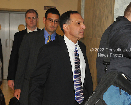 """Washington, D.C. - October 6, 2008 -- Richard S. Fuld, Jr., Chairman and Chief Executive Officer, Lehman Brothers Holdings, goes to a stairwell after giving testimony before the United States House Committee on Oversight and Government Reform hearing on """"The Causes and Effects of the Lehman Brothers Bankruptcy"""" in the Rayburn House Office Building on Monday, October 6, 2008..Credit: Ron Sachs / CNP.(RESTRICTION: NO New York or New Jersey Newspapers or newspapers within a 75 mile radius of New York City)"""