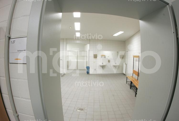 Zentralstadion Leipzig Kabine, Umkleide, Duschen, sanitaere Einrichtungen.