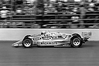 INDIANAPOLIS, IN - MAY 31: Chip Ganassi drives his March 86C 24/Cosworth during the Indianapolis 500 USAC Indy Car race at the Indianapolis Motor Speedway in Indianapolis, Indiana, on May 31, 1986.