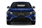 Car photography straight front view of a 2017 Mercedes Benz GLC-Coupe 300-4MATIC 5 Door SUV Front View