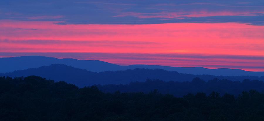 Blue Ridge mountain scene.