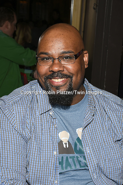 James Monroe Iglehart attends the Broadway Cares/Equity Fights Aids Flea Market and Grand Auction on September 25, 2016 at the Music Box Theatre and in Shubert Ally in New York, New York, USA. <br /> <br /> photo by Robin Platzer/Twin Images<br />  <br /> phone number 212-935-0770