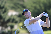 NFL Kansas City Chiefs quarterback Alex Smith tees off the 5th tee at Spyglass Hill during Thursday's Round 1 of the 2018 AT&amp;T Pebble Beach Pro-Am, held over 3 courses Pebble Beach, Spyglass Hill and Monterey, California, USA. 8th February 2018.<br /> Picture: Eoin Clarke | Golffile<br /> <br /> <br /> All photos usage must carry mandatory copyright credit (&copy; Golffile | Eoin Clarke)