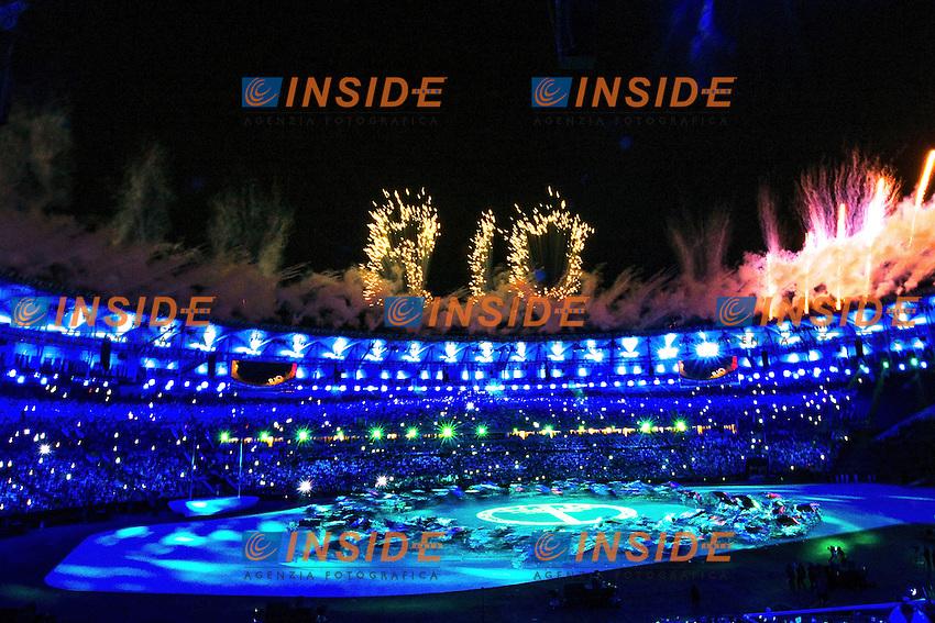 Fireworks <br /> Rio de Janeiro 06-08-2016 XXXI Olympic Games <br /> Maracana' Stadium <br /> Opening Ceremony 05/08/2016<br /> Photo Giorgio Scala/Deepbluemedia/Insidefoto
