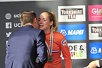 Silver medal for Anna Van Der Breggan (NED) 2nd place at the end of the Women Elite Road Race of the UCI World Championships 2019 running 149.4km from Bradford to Harrogate, England. 28th September 2019.<br /> Picture: Eoin Clarke | Cyclefile<br /> <br /> All photos usage must carry mandatory copyright credit (© Cyclefile | Eoin Clarke)