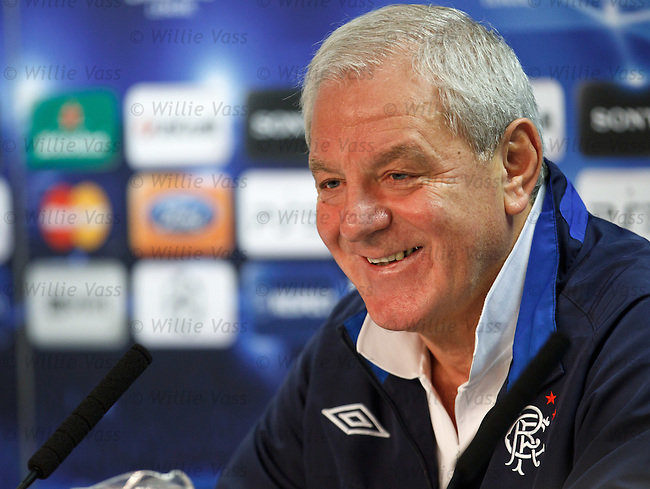 Walter Smith in good form as he previews tomorrow's match with Manchester United