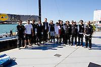 El príncipe felipe junto a la tripulación del CAM - V Hublot PALMAVELA - Rela Club Náutico de Palma - 18-20/4/2008 - Palma de Mallorca - Baleares - España