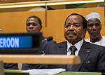 72 General Debate – 22 September <br /> <br /> by His Excellency Paul Biya, President of the Republic of Cameroon