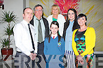 CONFIRMED: Anna Morrison with her parents and grandparents after she was confirmed on Friday by the Bishiop of Kerry Bill Murphy in St Brendans Church Tralee on Friday l-r: Damian, Gerry, Marie and Anna Morrison, Claire Goodall and Maeve Morrison...