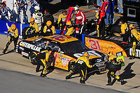 Nov. 1, 2009; Talladega, AL, USA; NASCAR Sprint Cup Series driver Jeff Burton pits during the Amp Energy 500 at the Talladega Superspeedway. Mandatory Credit: Mark J. Rebilas-