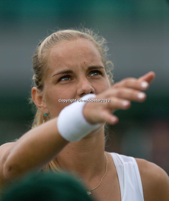 25-06-12, England, London, Tennis , Wimbledon, Arantxa Rus