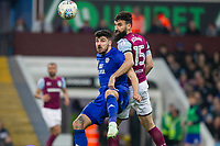 Callum Paterson of Cardiff City and Mile Jedinak of Aston Villa during the Sky Bet Championship match between Aston Villa and Cardiff City at Villa Park, Birmingham, England on 10 April 2018. Photo by Mark  Hawkins / PRiME Media Images.