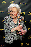 BURBANK - APR 26: Betty White receives Lifetime Achievement Award at the 42nd Daytime Emmy Awards Gala at Warner Bros. Studio on April 26, 2015 in Burbank, California