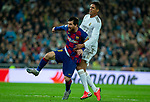 FC Barcelona's forwar Lionel Messi and Real Madrid CF's Rapahel Varane during La Liga match. Mar 01, 2020. (ALTERPHOTOS/Manu R.B.)