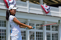 Hee Young Park (KOR) watches her tee shot on 16 during Wednesday's preview of the 72nd U.S. Women's Open Championship, at Trump National Golf Club, Bedminster, New Jersey. 7/12/2017.<br /> Picture: Golffile | Ken Murray<br /> <br /> <br /> All photo usage must carry mandatory copyright credit (&copy; Golffile | Ken Murray)