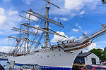 Statsraad Lenmkuhl barque-rigged tall ship used for training by the Norwegian Royal Navy