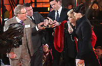 Jim Davidson, Linda Nolan, Emma Willis at Celebrity Big Brother 2014 - Contestants Enter The House, Borehamwood. 03/01/2014 Picture by: Henry Harris / Featureflash